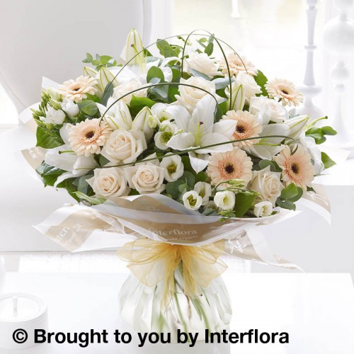 Extra Large Cream Exquisite Hand-tied product image