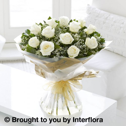 Heavenly White Rose Hand-tied product image