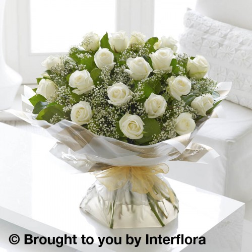 Large Heavenly White Rose Hand-tied product image