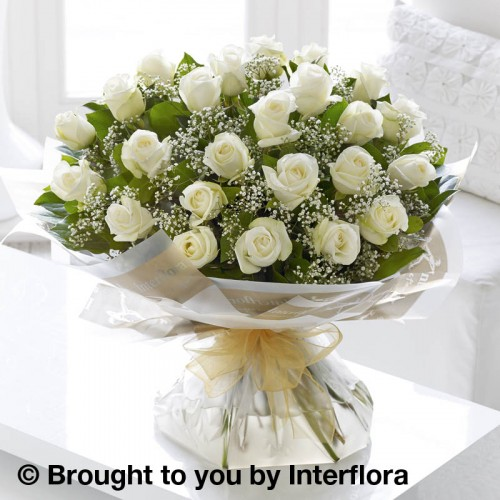 Extra Large Heavenly White Rose Hand-tied product image