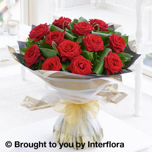 12 Luxury Long Stem Roses Hand-tied product image