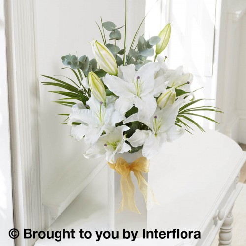 White Scented Lily Vase product image