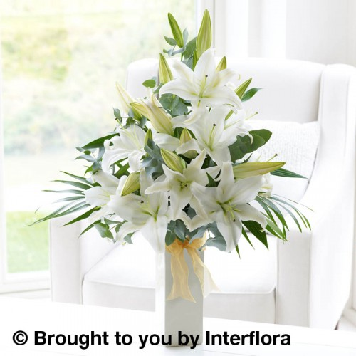 White Scented Lily Vase Plus product image