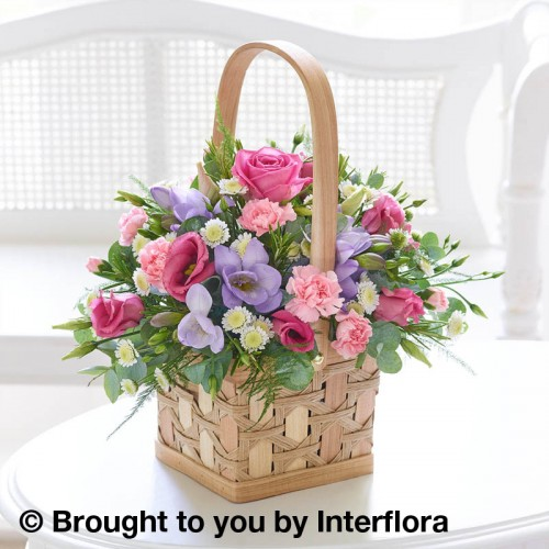 Scented Pink and Lilac Basket product image