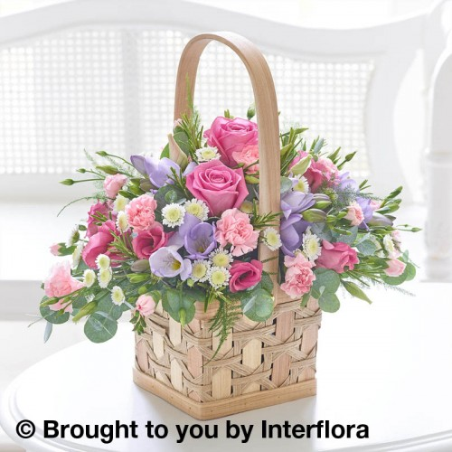 Scented Pink and Lilac Basket Plus product image