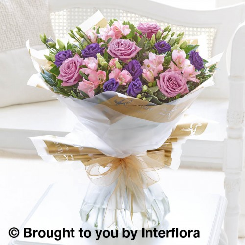 Lilac Rose and Alstroemeria Hand-ted product image