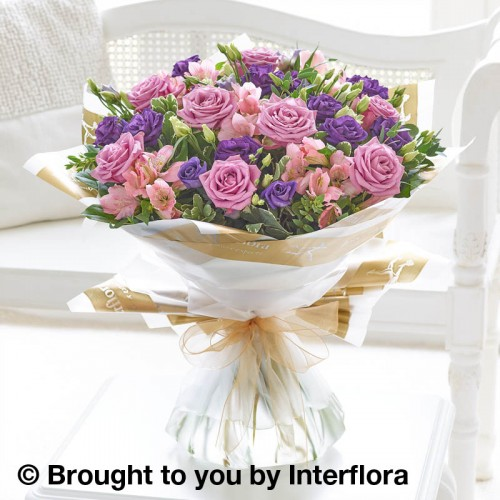 Extra Large Lilac Rose and Alstroemeria Hand-tied product image