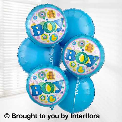Baby Boy Balloon Bouquet product image