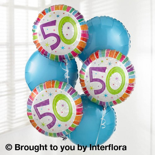 50th Birthday Balloon Bouquet product image