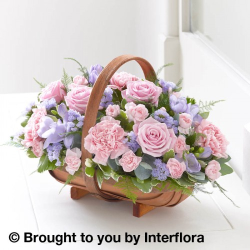 Large Mixed Basket - Pink and Lilac product image
