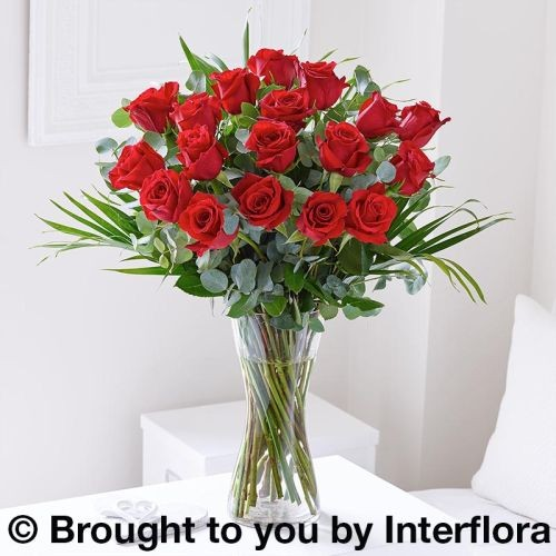 Large Romantic Red Rose Vase product image